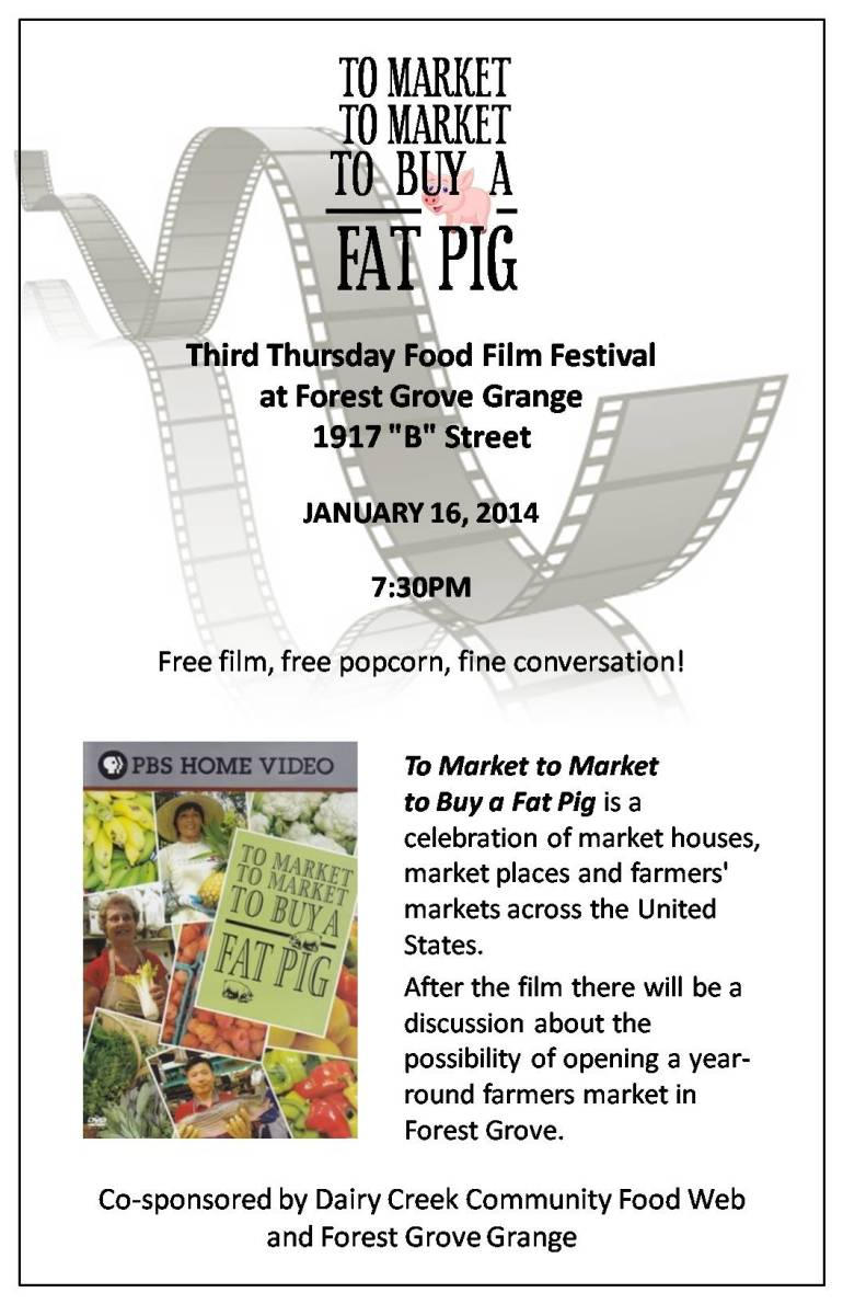 To Market to Buy a Fat Pig Poster (1)